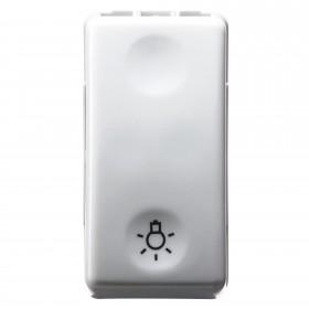 pulsador-con-simbolo-LUZ-10A-1-MÓDULO- SYSTEM-WHITE-GEWISS-GW20513