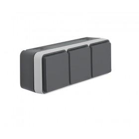 TOMA-TRIPLE-ENCHUFE-SCHUKO-SUPERFICIE-estanco-wnc165-gris-monobloc-hager