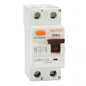 Interruptor-Diferencial-Residencial-MAXGE-2P-25A 30mA-Clase AC-EPR2CE025030